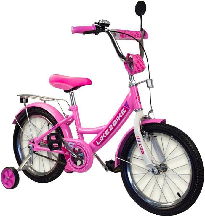 Двухколесный детский велосипед 191816 Like2bike RALLY розовый