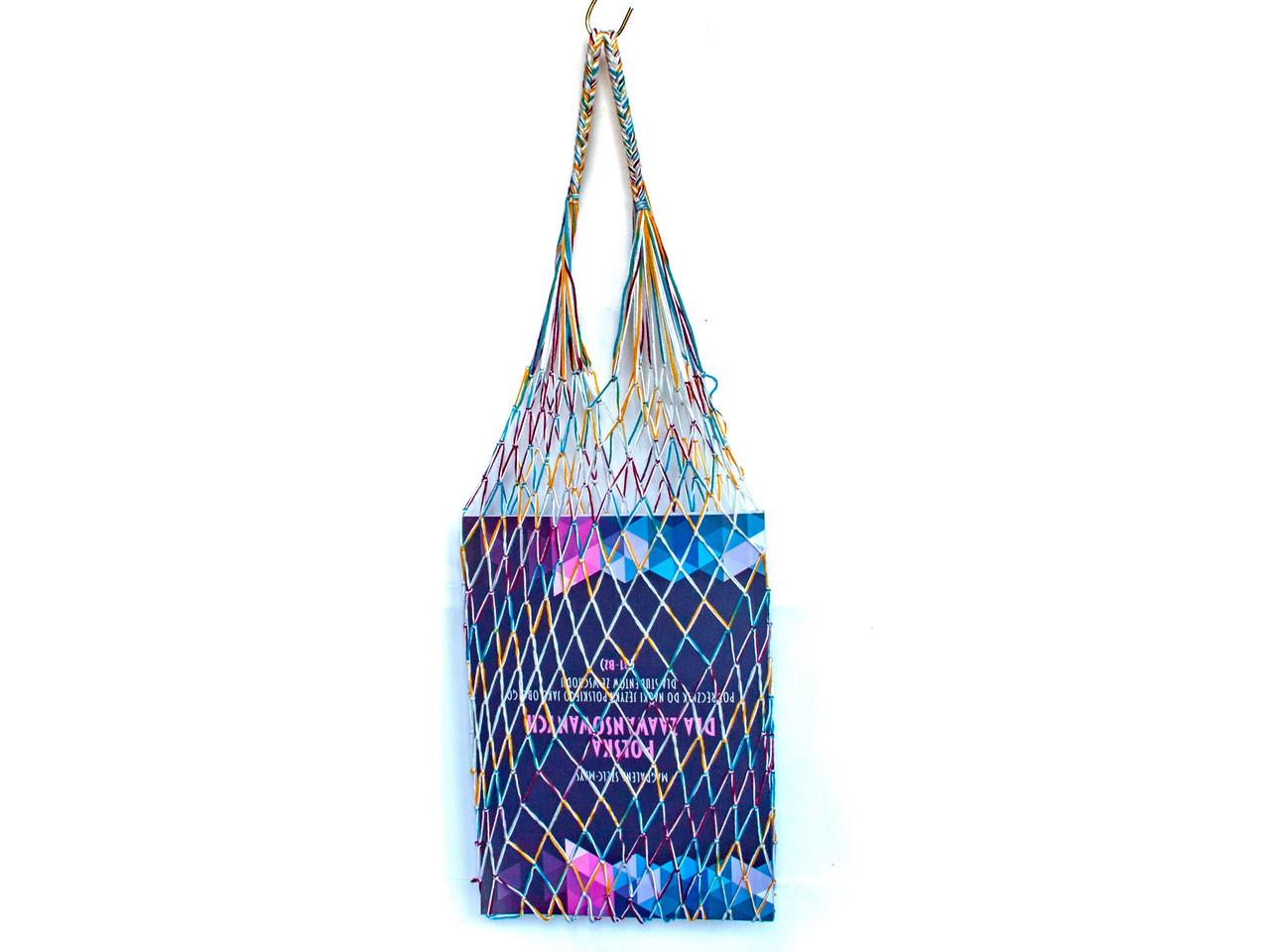 Ежедневная Эко сумка - Французская сумка Авоська - Шопер сумка - Крейзи в светлом