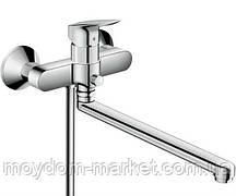 Змішувач для ванни Hansgrohe Logis з довгим виливом, хром 71402000