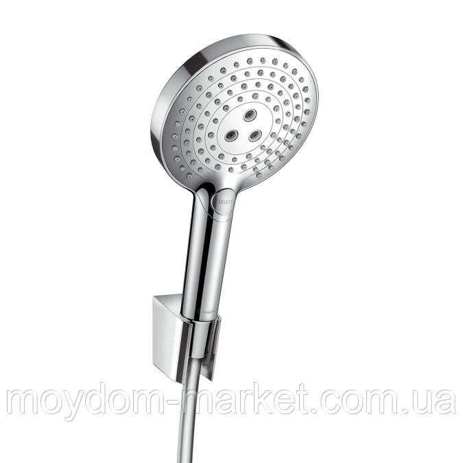 Душовий набір Hansgrohe Raindance Select S 120 Porter Set (ручний душ + шланг 1,6м + тримач) 26721000