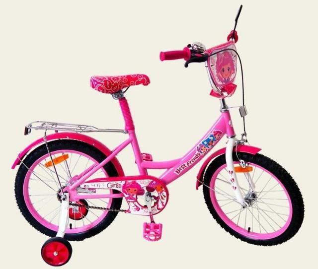 Двухколесный детский велосипед 16'' 161603 со звонком и зеркалом