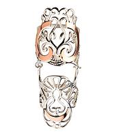 Широкое кольцо без камней Царица