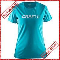 Футболка женская Craft Prime Logo голубая 1903175-1653