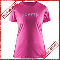 Футболка женская Craft Prime Logo розовая 1903175-1403