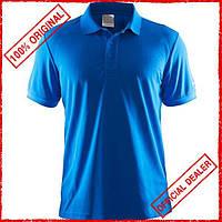 Футболка мужская Craft Polo Pique Classic синяя 192466-1336