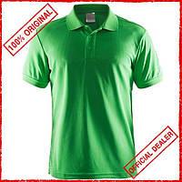 Футболка мужская Craft Polo Pique Classic зеленая 192466-1606