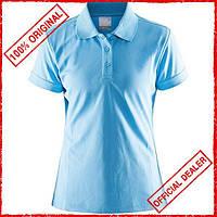 Футболка женская Craft Polo Pique Classic голубая 192467-1325