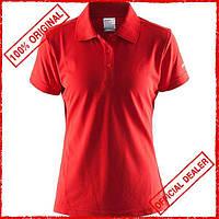 Футболка женская Craft Polo Pique Classic красная 192467-1430