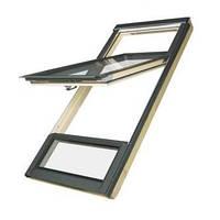 FAKRO Двустворчатое мансардное окно с приподнятой осью поворота створки FDY-V U3 Duet proSky 94х255 см