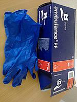Перчатки латексные AMBULANCE PF, размер М. (25пар/уп)