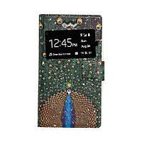 Чехол - книжка для телефона Универсал Gems 5.3 - 5.6 Одно Окно Принт - 50