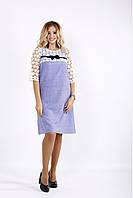 Сиреневое платье из габардина   0909-3