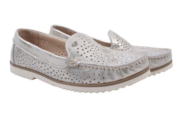 Туфли комфорт Bandinelli натуральный сатин, цвет серебро