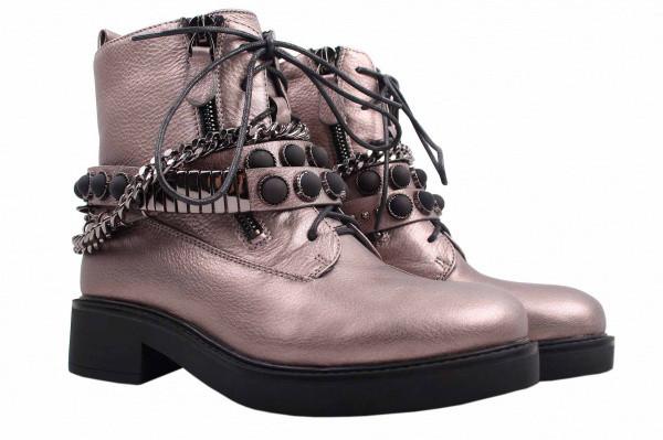 Ботинки Reuchll натуральная кожа, цвет серебро