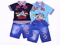 . Костюм детский летний для малчьика на лето. Футболка + джинсовые шорты. B-boys 152, фото 1
