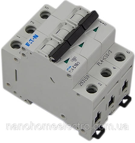 Автоматический выключатель 3п 10А Eaton