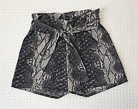 Шорты для девочки принт р. 128-146 серый, фото 1