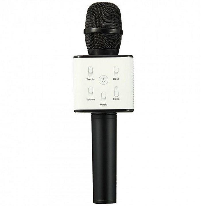 Беспроводной микрофон караоке q7, black