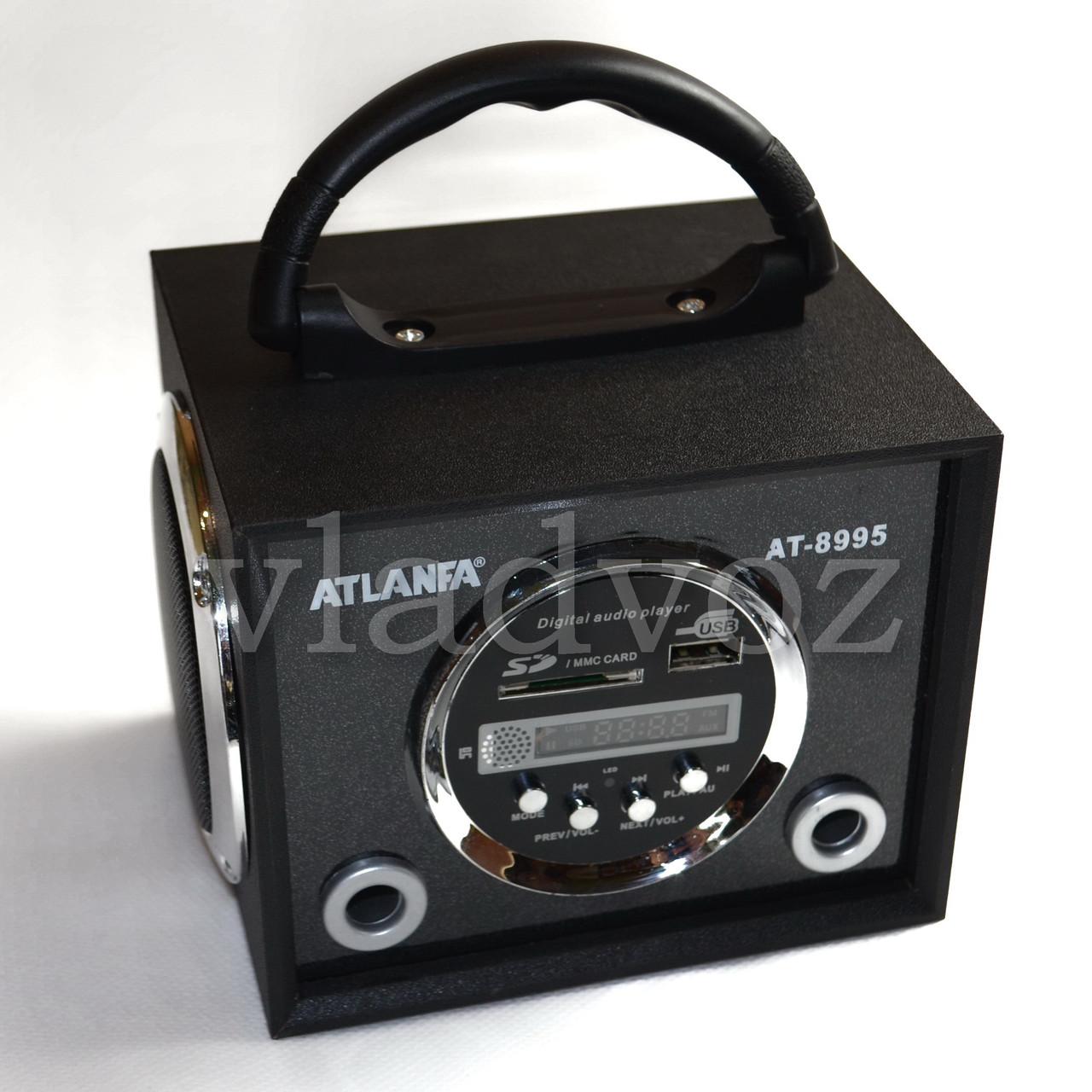 Портативная колонка Atlanfa AT-8995 чёрная с usb и sd