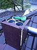 Монтаж фальшкороба (дымохода)