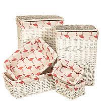"""Набор корзин для белья """"Фламинго"""" 6 шт."""