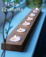 Деревянный подсвечник на 7 свечей