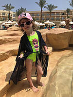 Детская Летняя пляжная туника синяя