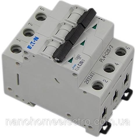 Автоматический выключатель Eaton-Moeller PL4-C 3P 20A  - NanohomeElectro в Днепре