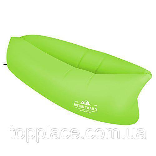 Надувной матрас-гамак USA Outer Trails с сумкой для переноски, Зеленый