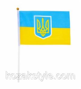 Прапорець України з гербом (20 * 28см)