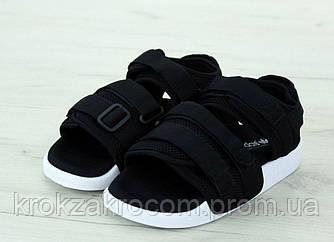 Сандалии женские Adidas Adilette Black replica AAA