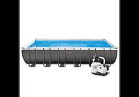 Бассейн каркасный Intex 26364, 732-366-132 см, фильтр-насос, лестница, подстилка, тент, фото 1