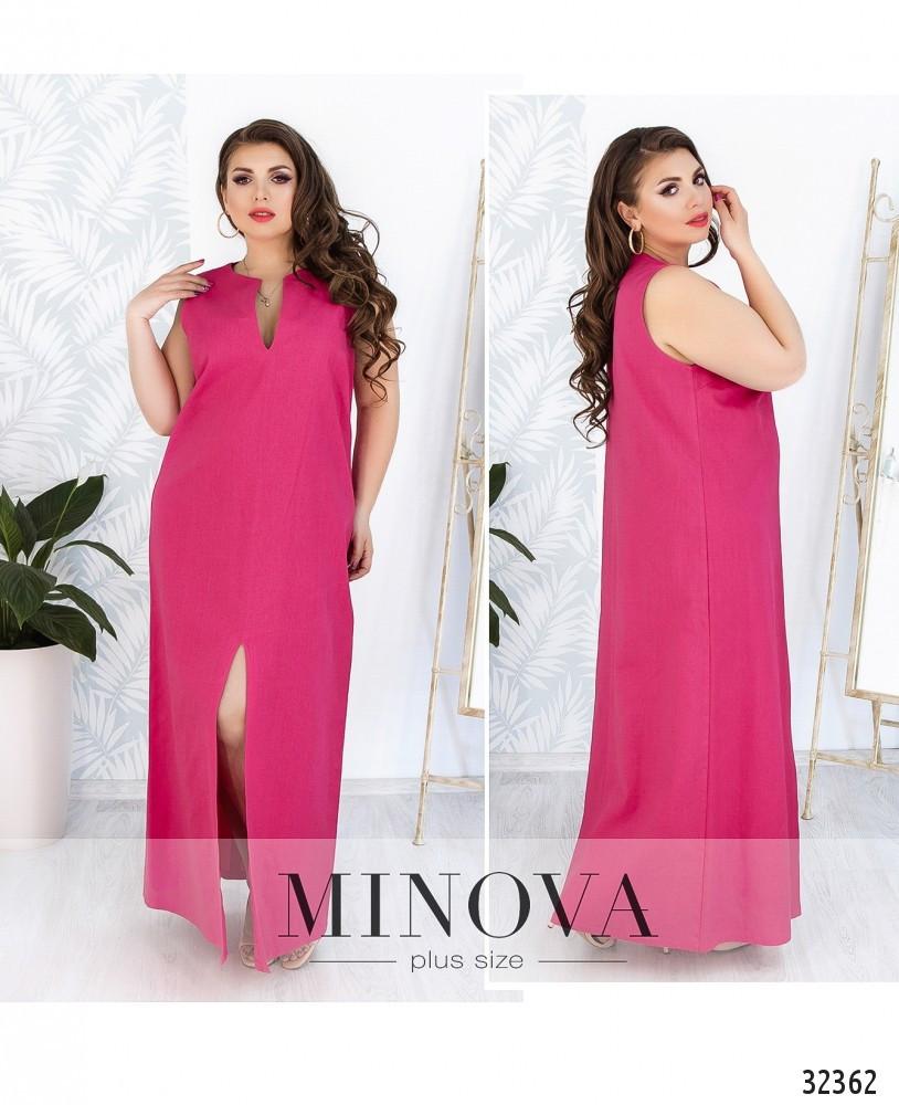 Льняное платье большого размера 48,50,52,54