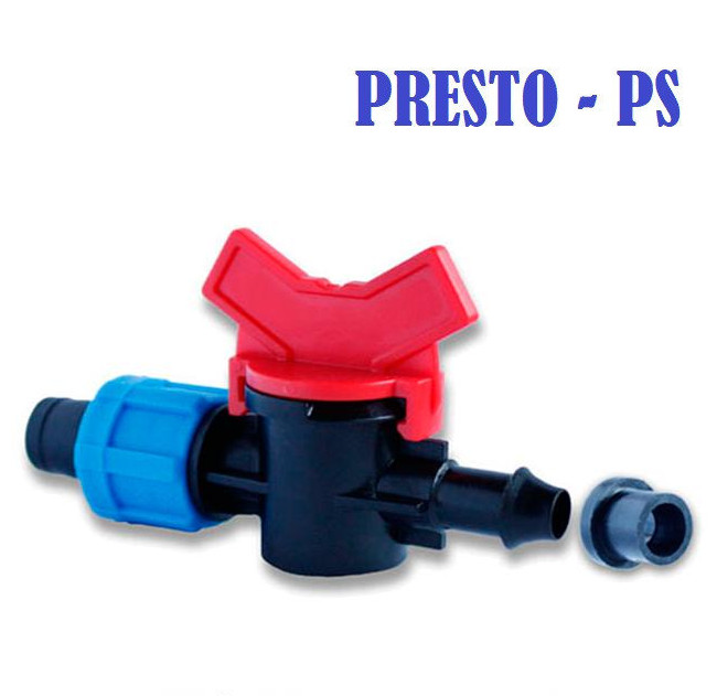 Кран старт с резинкой для ленты Presto-PS