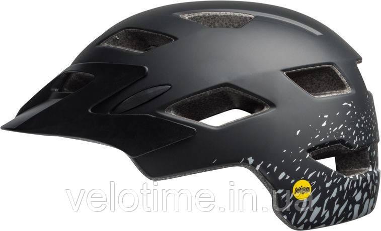Шлем вел. Bell Sidetrack MIPS  (50-57см, матовый черный-серебристый)