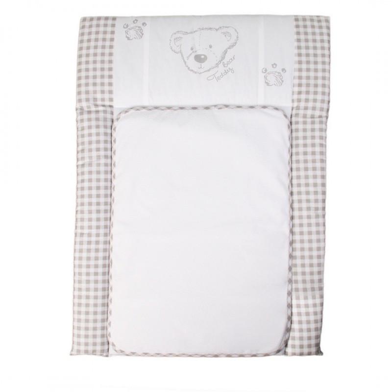Пеленальный матрас для новорожденных тканевый Veres Teddy Bear