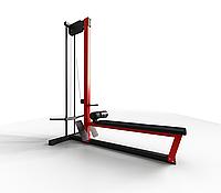 Блок для мышц спины (тяга снизу) на свободных весах