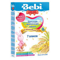 Каша молочная Bebi Premium (Беби Премиум) 7 злаков, 200 г 1104425