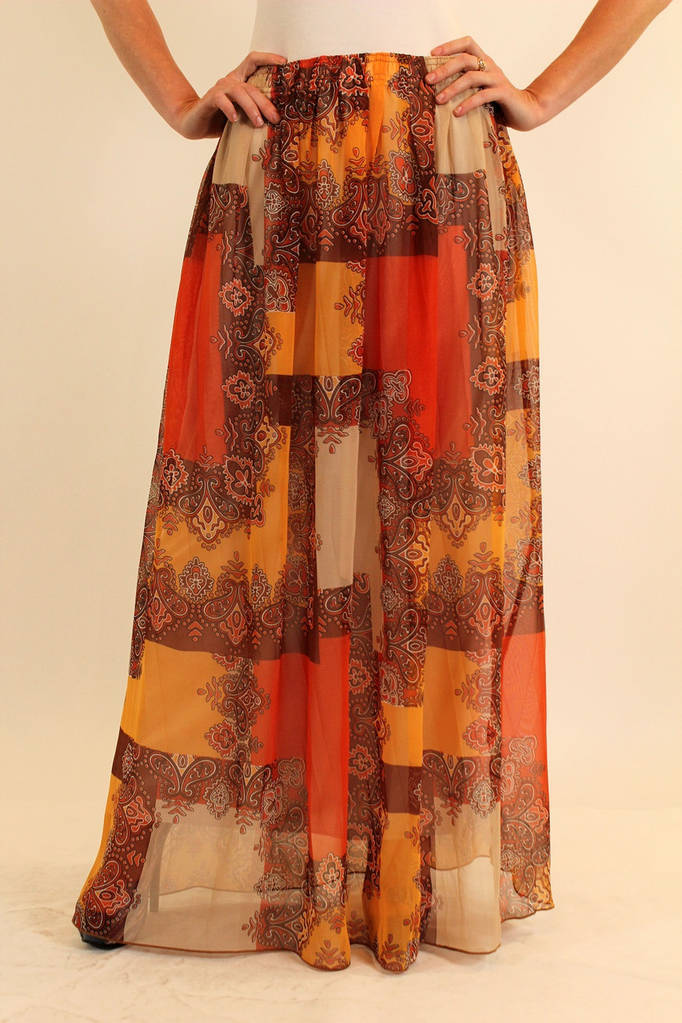 Длинная шифоновая юбка в пол 42-50 р ( разные цвета )