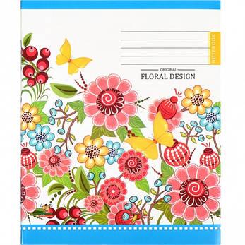 Тетрадь цветная 96 листов, лінія «Mandarin» 1 упаковка 12шт, фото 2