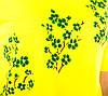 Женская футболка  желтая Сакура/зеленая размеры 40-46, фото 3