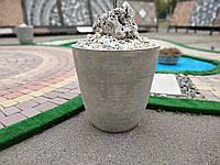 Вазон бетонный уличный для сада, дома и террасы