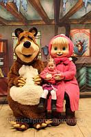 Ростовая кукла, промокукла Маша и Медведь, промокукла под заказ