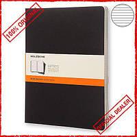 3 блокнота Moleskine Cahier больших черных QP331