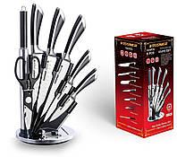 На подставке набор ножей Vissner VS 37801 удобные ножи стильный дизайн для кухни