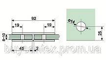 Крепление стекло-стекло 180° К 906 хром, фото 2