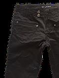 Женские джинсы Омат 9351 Стрейчевые чёрные, фото 3