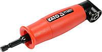 """Угловой магнитный держатель-адаптер для отверточных насадок HEX - 1/4"""" 155 мм 13Нм под углом 90°Yato YT-04631"""