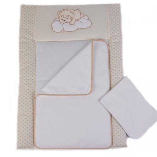 Пеленальный матрас для новорожденных тканевый Veres Sleepyhead  Бежевый