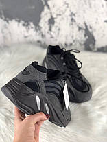 Мужские кроссовки Adidas X Kanye West Yeezy Boost 700 V2 Black Chocolate, фото 3
